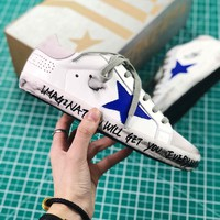 Ggdb Golden Goose Uomo Donna White Sapphire Sneakers Shoes - Best Online Sale
