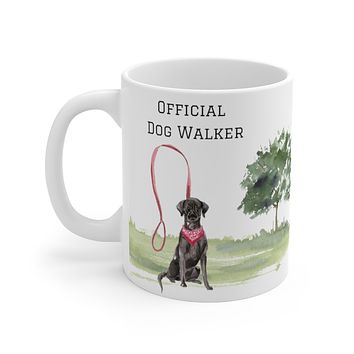 Official Dog Walker Mug — Black Lab