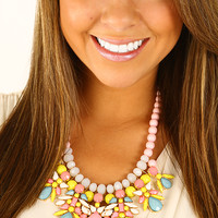 Now I Know Better Necklace: Yellow/Pink