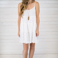 Crinkle Lace Tiered Dress