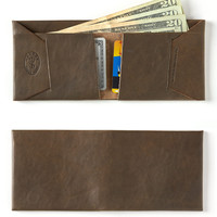 Leather Wallet in Olive