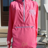 Monogrammed Charles River Jacket, Charles River Pullover Jacket, Unlined and lightweight Pack-N-Go Pullover Jacket, Monogrammed Jacket