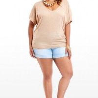 Plus Size Shadow Stripe Dolman Top | Fashion To Figure