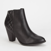 Bamboo Rebel Womens Boots Black  In Sizes
