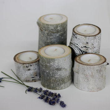 5 Aspen Tea Light Holder, Reclaimed wood, wedding centerpieces, Candle Holder, Rustic Aspen Candle holder, Bridal Shower/House Warming Gifts