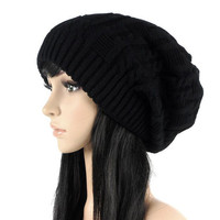 Double Knit Wool Jacquard Hat