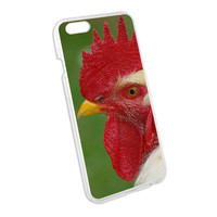 White Rooster Chicken Snap On Hard Protective Case for Apple iPhone 6