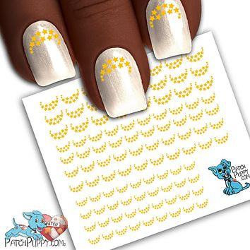 Edgy Stars Yellow Nail Art Decals (Now 50% more!)