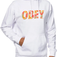 Obey Faster Times White & Hawaiian Print Pullover Hoodie at Zumiez : PDP