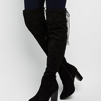 Qupid Tie-Back Over-The-Knee Boots