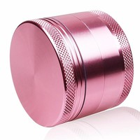Pink Color Girl Love 4levels Aluminium Herb Grinder Weed Tobacco Smoke Portable 50mm for Hookah Shisha Glass Pipe Water Pipe