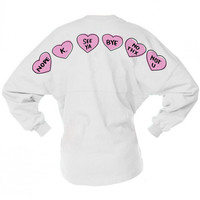 Candy Valentine Hearts Game Day Jersey