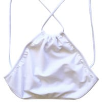 Kissmax XBack Halter Top in Lily White