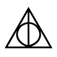 Deathly Hallows Harry Potter Die Cut Vinyl Car Decal Sticker for Car Window Bumper Truck Laptop Ipad Notebook Computer Any Corlor