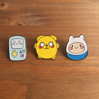 Enamel Pins, Adventure Time Pin Set of 3, Lapel Pin, Kawaii, Adventure Time