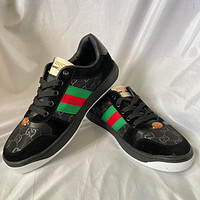 GUCCI GG Mens and Womens Double G Fashion Flat Sneakers Shoes 1-1