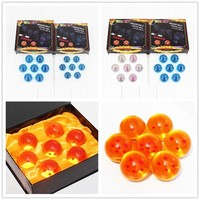 7pcs/set 4.2cm 3.5cm 7 stars Blue or orange Crystal Ball Hot Japanese Dragon Ball Z collection model popular Gift Toys