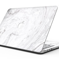 Mixtured Gray v12 Textured Marble - MacBook Pro with Retina Display Full-Coverage Skin Kit