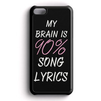 Cool Brain Song Music Cute Funny Quote iPhone 5C Case