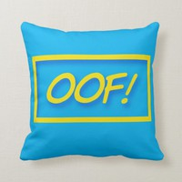oof! Gamer saying quote Cushion | Zazzle.co.uk