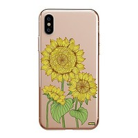 Sunny Sunflower - Clear TPU - iPhone Case