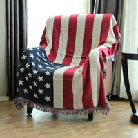 American flag cotton thread blankets winter Home leisure sofa blanket piano cover Bedding bed cover carpet tapestry free shippin