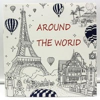 24 Page Coloring Book For Kids & Adults/ Around The World In 80 Days