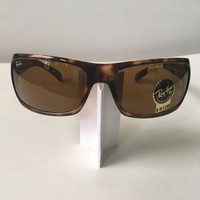 RAY BAN RB4075 642/57 3P TORTOISE HIGHSTREET B15 BROWN GLASS WRAP SUNGLASSES NEW