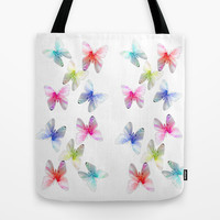 Colorful flowering butterflies. Floral photo art. Tote Bag by NatureMatters