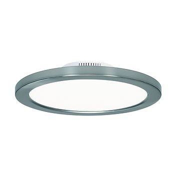"""9""""W 1-Light Close-to-Ceiling Polished Nickel"""