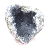 """Natural Heart Shaped Celestite Geode / Celestite Cluster / Rare Geode / Natural Home Decor / High Quality Crystal Heart 2lbs + 4.5X4.25X3.5"""""""