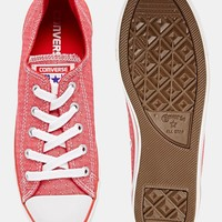 Converse Dainty Red Plimsoll Trainers