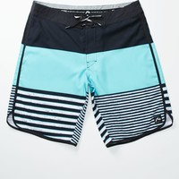 Rusty Balance Boardshorts - Mens Board Shorts - Black/Teal