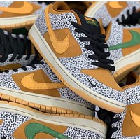 Atmos x Nike SB Dunk Low Safari Rock Burst Cracking Running Shoes