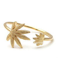 marijuana ring, marijuana leaf ring, marijuana leaf, leaf ring, adjustable ring, unique ring, stretch ring, woman ring, men ring