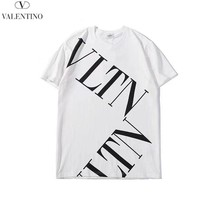 Valentino New fashion letter print couple top t-shirt White