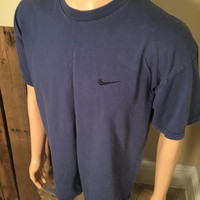 Vintage Nike shirt // Nike tshirt // Nike Swoosh // Adult size Large // 90s tag and embroidered logo // made in USA