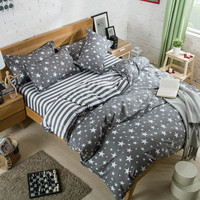 Gray Stars & Stripes Bedding Set