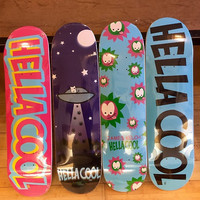 Sbc Hella Cool Skateboard Blue Board With Black Letters 8.50