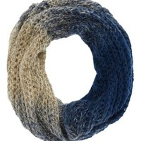 Combo Ombre Open Knit Infinity Scarf by Charlotte Russe