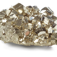 """3"""" Pyrite Cluster, Gold, Rocks, Crystals, Minerals & Petrified Wood"""
