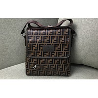 FENDI Fashion Full-Printed Colour-Coloured Briefcase Single Shoulder Bag
