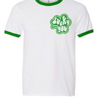 Lucky You St. Patrick's Day Ringer Tee