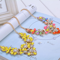Bright Colorful Statement Necklace