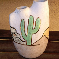 Tribal Vase - Native American Tribal Wedding Vase - Pueblo Pottery - Pueblo wedding Vase - Tribal Wedding - Two spout Native Vase