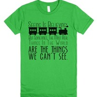 Seeing is Believing Express-Female Grass T-Shirt