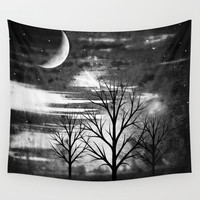 silence Wall Tapestry by Haroulita