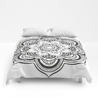 Mandala White & Black Comforters by SimplyChic