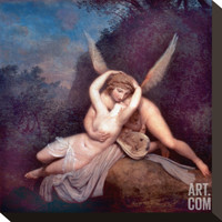 Cupid and Psyche Stretched Canvas Print by Antonio Canova at Art.com
