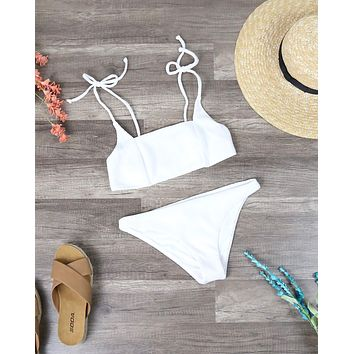 Final Sale - Somedays Lovin - Ripples Bikini Bottom - Off White